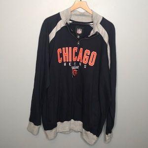 NFL Chicago Bears quarter zip sweatshirt XXL